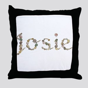 Josie Seashells Throw Pillow